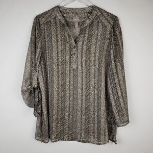 Chicos patterned shirt size 2